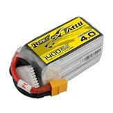 TATTU R-Line Versão 4.0 V4 22,2 V 1400mAh 130C 6S LiPo Bateria XT60 Plugue para Drone RC