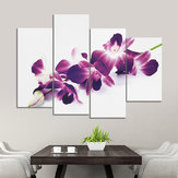 4pcs prune pourpre orchidées toile florale picto mur impression split art peintures home decor