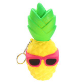Squishy Cool Ananas 16cm Slow Rising Soft Squeeze Collectie Gift Decor Toy