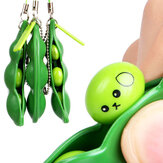 Extrusion Bean Toy Mini Squishy Soft Toys Pendants Anti Stress Ball Squeeze Gadgets Phone Strap