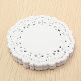 180pcs 3.5'' White Paper Lace Round Doilies Wedding Party Craft Decorations 8.8cm