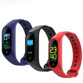 XANES M3 IPS Pantalla a color IP67 Impermeable Pulsera inteligente Corazón Reloj inteligente con clasificación deportiva Mi Band