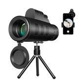 50X60 Zoom HD BAK4 Optische grote zicht Monoculaire telefoon Observatieonderzoek Camping telescoop + gsm-clip + statief