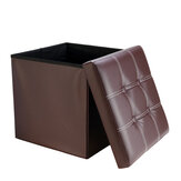 PU Leather Storage Stool Multifunctional Sofa Ottoman Footrest Box Seat Footstool Square Chair Home Office Furniture