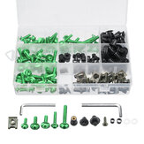177pcs Motorcycle Fairing Bolt Kit Nuts Fastener Clips Screws For Honda/KawasakiYamaha/Suzuki