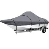 17ft-19ft/19ft-21ft/21ft-23ft/23ft-25ft 210D Boat Cover Waterproof Dustproof Heavy Duty Marine