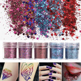 Shining Mixed Glitter Poeder Sequins Decofatie 3D Stof Rode Paarse Halloween Nail Art Ornaments