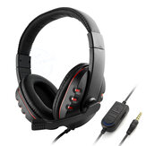 Bakeey Gaming Headphones 40mm Drivers Surround Sound Bass 3.5mm Head-Mounted Wired Headset with Mic for Gamer