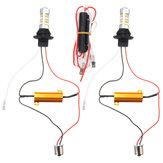 12V-24V BAU15S/BA15S 2835 42smd Dual-Color Switchback DRL Turn Signal Lights