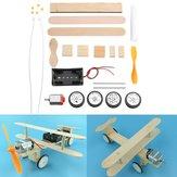 Elektrikli Sürgülü Uçak DIY Kit Öğrenci Küçük Buluş El Kitabı Malzeme Bilimi Model Oyuncak