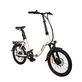 CMSBIKE CMSTD-20ZG 7.8Ah 250W Blanco 20 pulgadas Bicicleta eléctrica plegable 32km / h 30-45km Kilometraje Doble Dics Freno LCD Exhibidor Bicicleta eléctrica
