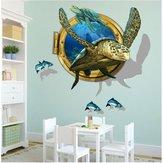 Miico3DCriativoPVCAdesivosde Parede Home Decor Mural Arte Removível Decalques Da Parede Da Tartaruga De Mar