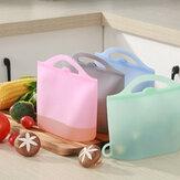 Yeniden kullanılabilir Silikon Taze Vakumlu Gıda Çantalar Gıda Saklama Kapları Buzdolabı Çanta Mutfak Renkli Taze Gıda Çanta