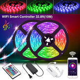 SOLMORE 2 * 5M LED Strips WiFi sans fil Smart Phone APP Control 300 LED Strip Light Waterproof IP65 Flexible RGB Stripes avec 24 boutons