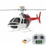 FLY WING Bell 206 Klasse 450 6CH Borstelloze Motor GPS Fixed Point Altitude Hold Scale RC Helicopter RTF