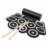 KONIX MD760L Portable USB 9 Pads Roll Up Bateria eletrônica com built-in Bateria Drum Sticks