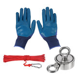 HNM48/60/67mm Double Side Strong Neodymium Fishing Magnet Set With 10m Rope And Gloves Fishing Tools