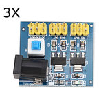 3 stuks 12V naar 3,3V / 5V / 12V DC-DC Voltage Converter Multi-output Power Supply Module