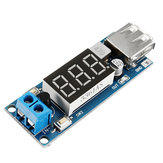 3pcs DC-DC 2 In 1 6.5V-40V To 5V Buck Step Down Power Module Voltmeter Automatic Calibration Stable Output 5V 2A USB Charging Port Reverse Connection Over-Current Over-Temperature Protection