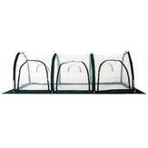 300x100x100cm Tenda de cobertura de estufa em PVC para jardim à prova d'água protege plantas Flores plantio Tenda de cultivo à prova de calor à prova de frio