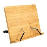 Bakeey Ayarlanabilir Açı Katlanabilir Taşınabilir Bambu Okuma Kitap Tablet Standı Belge Masaüstü Tutucu