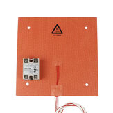 235*235mm 24V 200W Silicone Pad Heated Bed Heating Pad + SSR Solid State Relay Kit for 3D Printer
