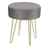 Tabouret de coiffeuse rond Soft chaise de Piano en velours maquillage siège jambes de fil maison chambre tabouret bas créatif