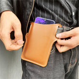 Homens Couro Falso Telefone de Cor Sólida Bolsa Retro Fácil de Transportar Cintura Bolsa EDC Cinto Bolsa Com Cinto Loop