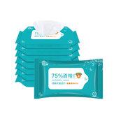 1 Paket of 10 Adet 75% Alkol Dezenfeksiyon Mendil Temizlik Islak Temizlik ve Sterilizasyon için Kullanılan Mendil Tüm durumlar için Uygundur