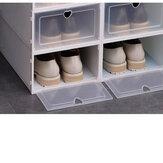 Κιβώτιο αποθήκευσης παπουτσιών Stackable Πτυσσόμενη Πλαστική Διαφανής Θήκη Οργανώστε 4-20PCS