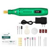 14000 r / min Kit de canetas de esmeril elétrico portátil, lixamento, lixamento, polimento, ferramenta de gravação para madeira, aço inoxidável