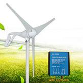 Generador de turbina de viento 100W 12V 24V 3 Cuchillas blanco + controlador de viento