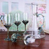 5 stks / set Crystal Glazen Cup Alcohol Decanters Set KitchenDrinkware Kit Vaatwasmachinebestendig