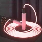 TMT Fitness Springseil Leuchten Verstellbares Springseil Trainingsgerät Körpertest Training Übung Fettabbau Trainingsseil