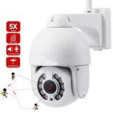 SD25W 5MP 5-кратный оптический зум PTZ WiFi IP камера Водонепроницаемы Автоматическое отслеживание IR 40M H.265 Wireless Wifi 2MP IP камера Обнаружение гуманоидо