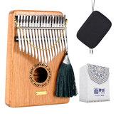 LingTing LT-K17G 17 keys Kalimbas Mbira Thumb Piano Solid Wood Musical Instrument Gift Toys