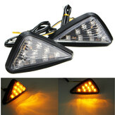 Pair Motorcycle 11 LED Turn Signals Lights Indicators Triangle Abmer