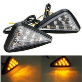 Par motocicleta 11 LED Indicadores de mudança de luzes Indicadores triângulo Abmer