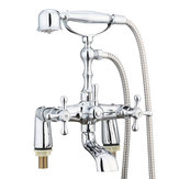 Victoriaanse traditionele douchekraan badkamer bad met douche Filler mengkraan handheld set
