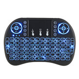 I8 Three Color Backlit Versão Francesa 2.4G Wireless Mini Keyboard Touchpad Air Mouse