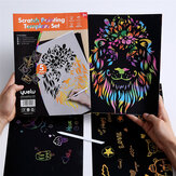 Painting Kids Toys Stenciled Template DIY Scrapbooking Coloring Animal Child Educational Toys