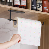 Multi-function Stainless Steel Kitchen Toilet Paper Holder Punched Paper Towel Rack
