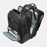 Uomo Multi-strato Spazio Grande capacità 17 Pollici Labtop Business Work Borsa con ricarica USB Zaino antifurto