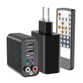 Bakeey K16 bluetooth V5.0 Audio Transmitter Receiver 2RCA Aux Wireless Audio Adapter Support TF Card & USB Flash Drive App Remote Control USB Wall Charger