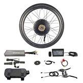 RISUNMOTOR Powerful Brushless Gearless Hub Motor 48V 1500W Front Wheel Electric Bike DIY Conversion Kits with LCD3 Display