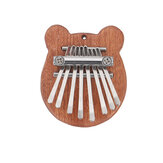 Muspor 8 Keys Mini Kalimba Africa Thumb Piano Mbira Solid Wood Keyboard Instrument Gift Toy With Lanyard Pendant