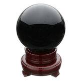 100MM czarny naturalny obsydian kula duży kryształowy kamień leczniczy z podstawą stojaka Meble biurowe
