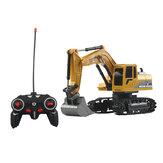 Mofun 1026 40 Mhz 1/24 6CH RC Excavadora Coche Modelos de vehículos Ingeniero de juguete Camión con piezas de aleación Música ligera