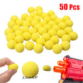 50Pcs 2.3cm PU Booyancy Rounds Bullet Balls Kids Toy Ball para Hunting Garden