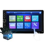 7018B 7 Inch Double Din Car MP5 Player IPS Full View Touch Screen Stereo FM Radio bluetooth with Backup Camera